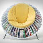Как создать современное кресло на основе книг