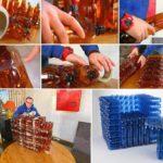 Как своими руками сделать практичное кресло из бутылок