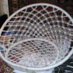 Канатовое подвесное кресло