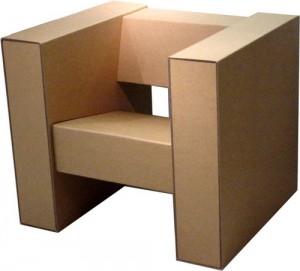 Картонное кресло