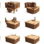 Картонные трубы для изготовления кресла