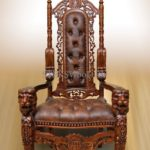 Классическое кресло на основе красного дерева