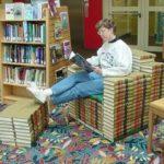 Книжное однотонное кресло