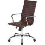 Компьюетрное кресло, выполненное в коричневом цвете