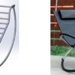 Конструкция кресла, созданного из труб