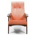 Коралловое мягкое кресло