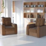Коричневое кресло для обустройства дома