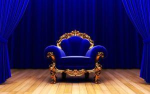 Королевское синее кресло