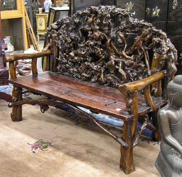 Коряга как материал для изготовления кресла
