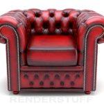 Кожаное шикарное бордовое кресло