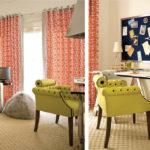 Красивое оливковое кресло для интерьера дома