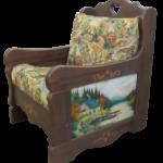 Красивое оригинальное кресло на основе сосны