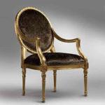 Красивое золотое кресло для дома