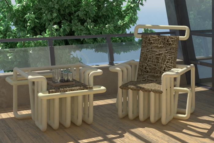 Красивые кресла из труб