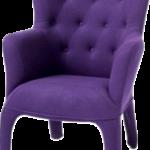 Красивый дизайн фиолетового кресла