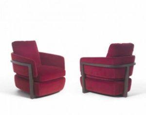Кресла для отдыха дома в бордовом цвете