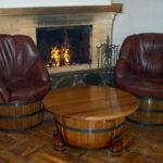 Кресла на основе деревянной бочки