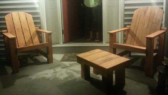 Кресла в стиле кантри из поддонов