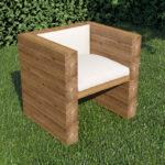 Кресло для сада, изготовленное из дерева