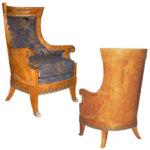 Кресло из карельской березы