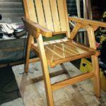 Кресло из массива липы