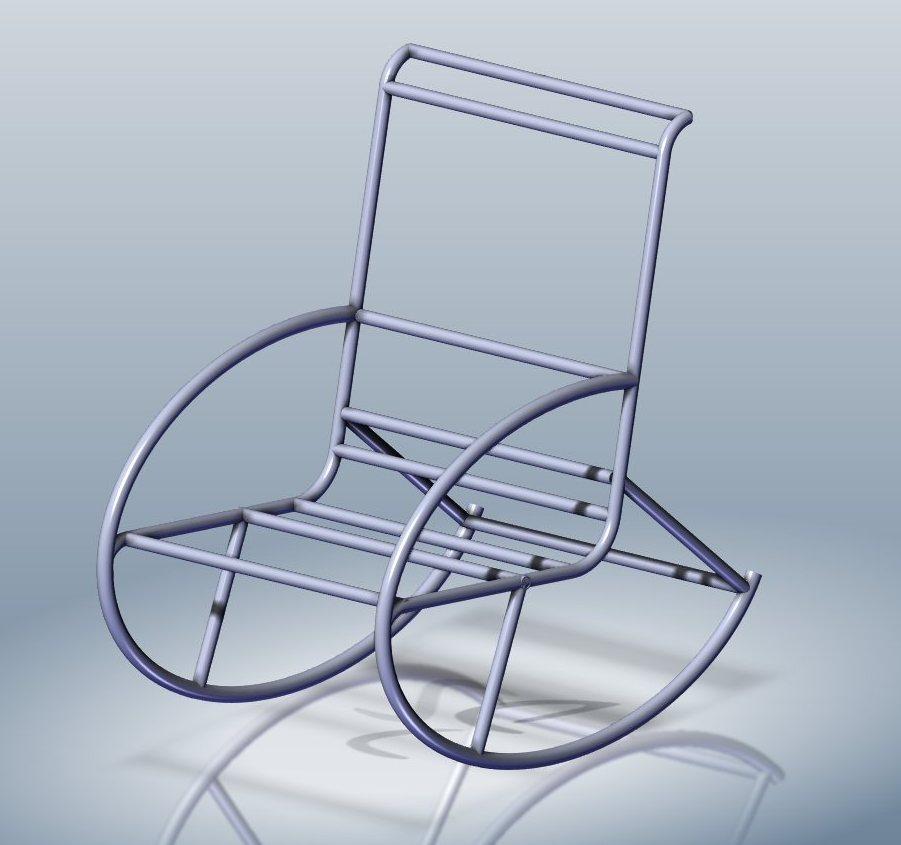 Кресло из обычных труб для дома