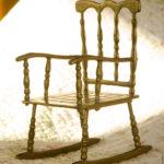 Кресло качалка из бронзы
