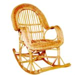 Кресло-качалки плетеные из лозы