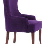 Кресло на высоких ножках в фиолетовом цвете