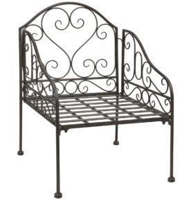Кресло, созданное на основе металла