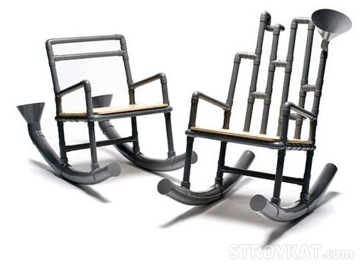 Кресло своими руками с помощью труб