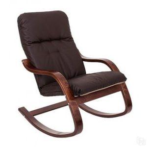 Кресло темных тонов на основе ламината