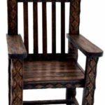 Кресло трон, созданное на основе дерева