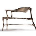 Кресло в орининальном дизайне из бронзы