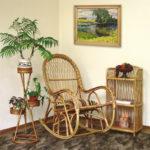 Лозовое кресло в интерьере дома