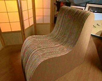 Мебель из гофрированного картона для дома