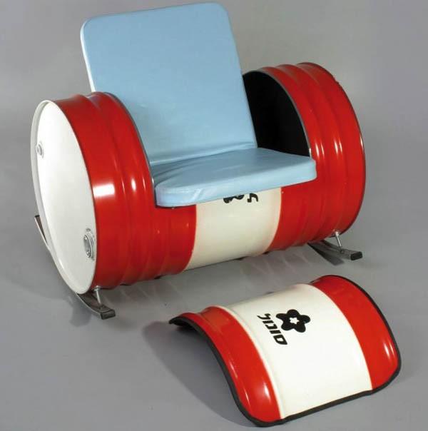 Металлическая бочка для изготовления кресла