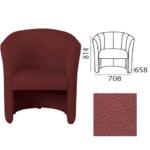 Модель кресла в красивом бордовом цвете