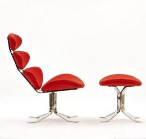 Модель кресла в красном цвете