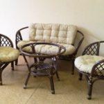 Мягкие кресла на основе бамбука