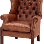 Мягкое деревянное коричневое кресло