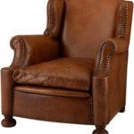 Мягкое кресло из коричневой кожи