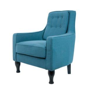 Мягкое современное кресло в голубом цвете
