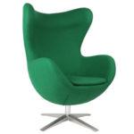 Насыщенное оливковое кресло для дома