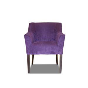 Небольшое красивое пурпурное кресло