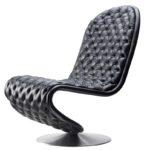 Необычное черное кресло для дома