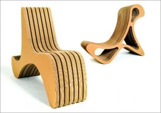 Необычное кресло, созданное из картона