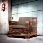 Необычное кресло, созданное на основе дерева