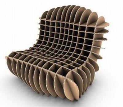 Необычные кресла, созданные из картона