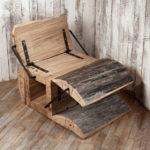 Необычный дизайн деревянного кресла